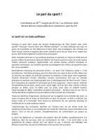 contribution au 36ème congrès du PCF