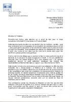 Coupe d'Europe de football en Israel en 2013, Marie-George Buffet écrit à Platini