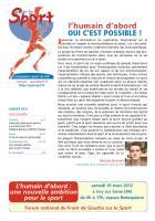 Pour le sport - janvier 2012