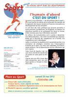 Pour le sport juin 2012