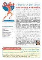 Pour le sport - novembre - décembre 2009