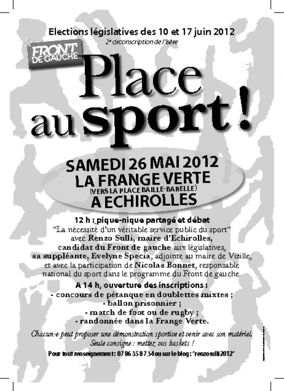 samedi 26 à Echirolles : Place au sport