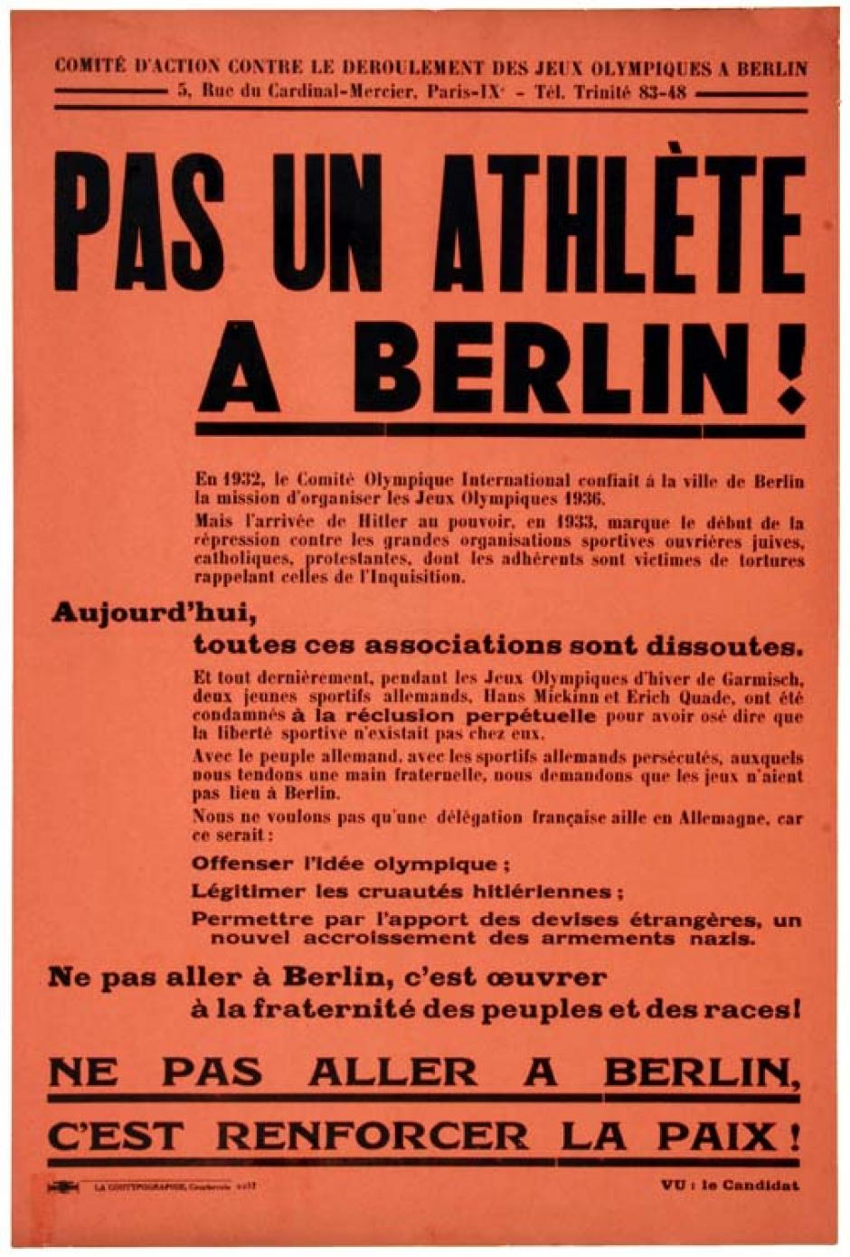 Origine de la commission sport du PCF